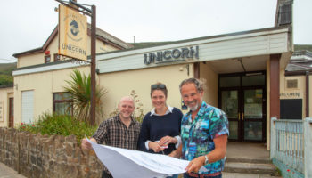 Gareth Crosby, Pru Clarke and Taskin Muzaffer, The Unicorn On The Beach, The Johnson Collective