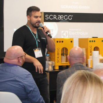 Scraegg Pro scrambled eggs machine, winner Start Me Up Awards 2019