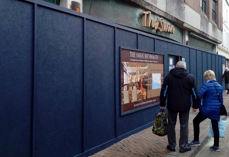 Sanderson Contracts JD Wetherspoon project Weymouth