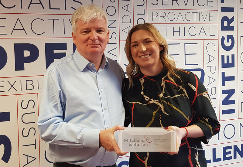 John McCleary, head of building maintenance, Mitchells & Butlers and Rachel Lapins, account manager, Hobart Service Hobart Service