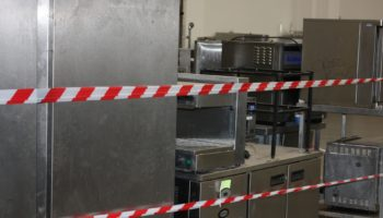 Catering equipment needing repair